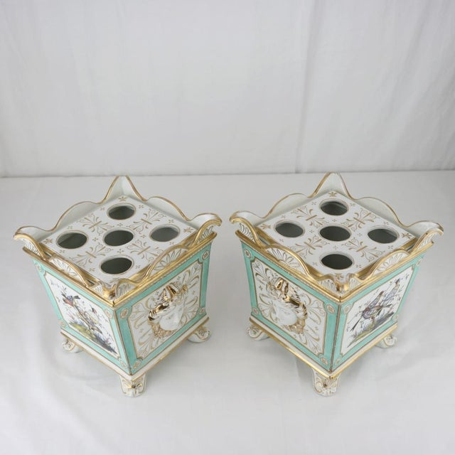 Green Henry Morris English Swansea Bough Pots - A Pair For Sale - Image 8 of 10