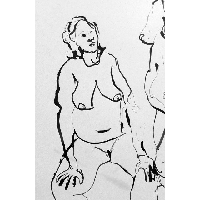 The Conversation Ink Drawing - Image 4 of 7