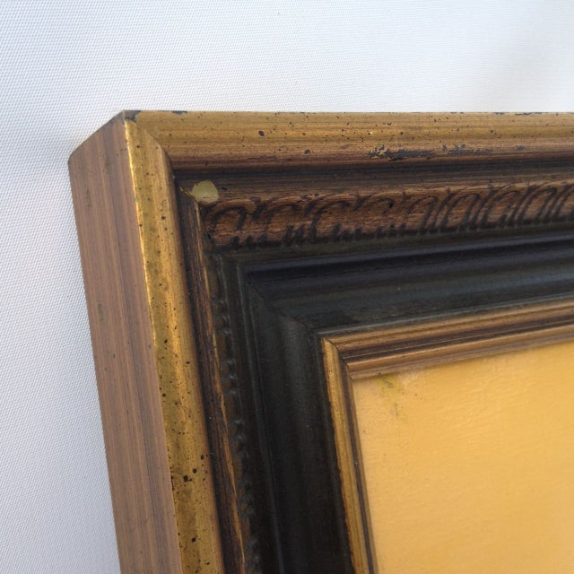 Len Yini Mid-Century Oil on Canvas** For Sale - Image 4 of 6