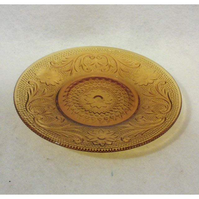 Gold Sandwich Glass Saucers - Set of Six - Image 3 of 3