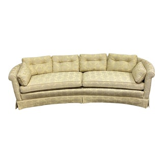 Henredon Hollywood Regency Curved Sofa For Sale