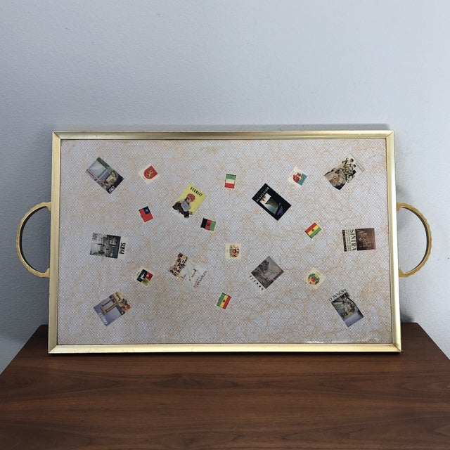 Large Vintage Travel Themed Tray For Sale - Image 13 of 13