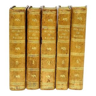 Paris Theatre Books, Dated 1821 - Set of 5 For Sale