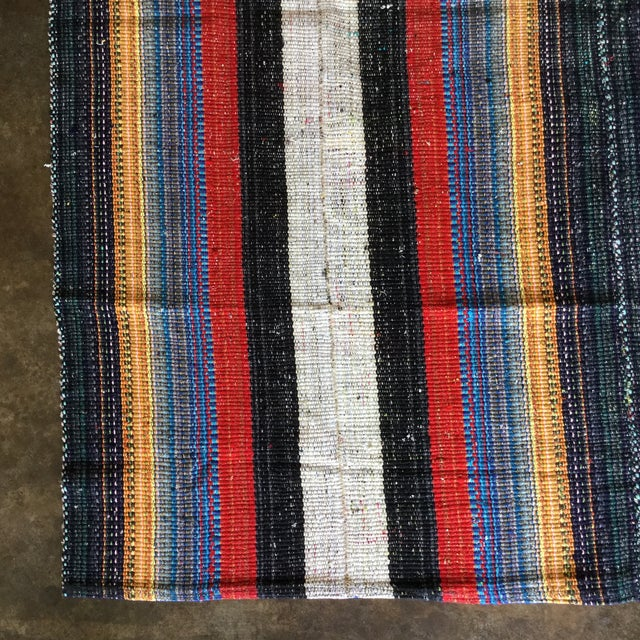 Flat Weave Persian Kilim Area Rug - 5′7″ × 6′2″ -- 109012 For Sale - Image 9 of 11