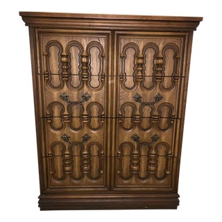 Broyhill Pacemaker Mid-Century Modern Sculpted Cabinet For Sale