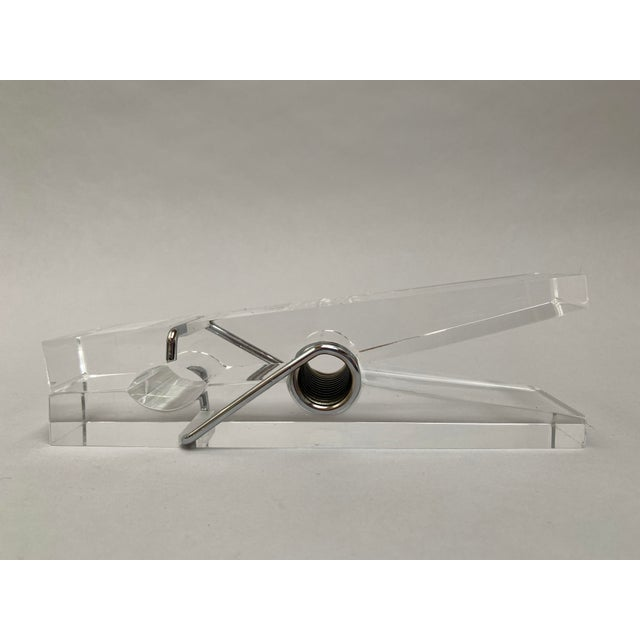 Oversized Lucite Clothespin Paperweight or Paper Holder For Sale - Image 10 of 13