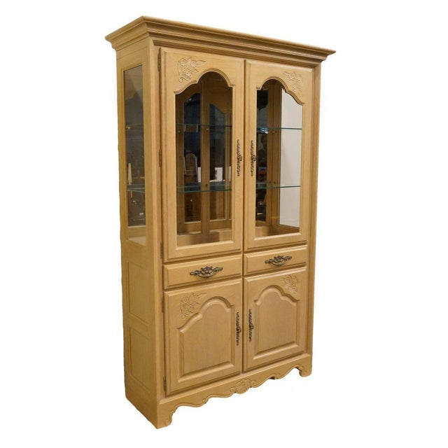 Stanley Furniture Country French Blonde Display China Cabinet For Sale - Image 13 of 13