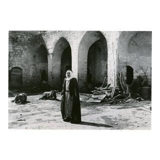 Vintage 1950's Courtyard of an Arab Inn Nazareth Israel Photograph
