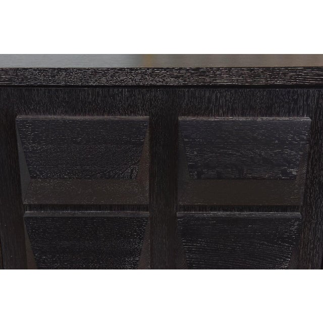 Black Monumental Ebonized Four-Door Credenza or Buffet by Jamie Herzlinger For Sale - Image 8 of 9