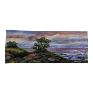 "Nautical Nancy Smith Original Watercolor ""Pantone Panorama"" For Sale"