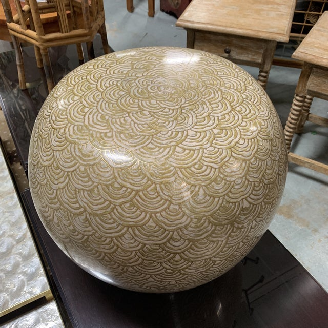 Early 21st Century Robert Kuo Cloisonné Drum Low Stool For Sale - Image 5 of 9