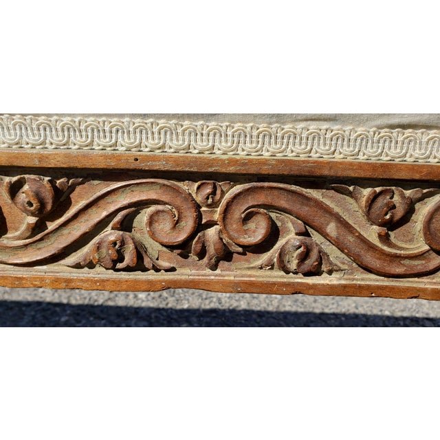 19th Century French Empire Hand Carved Twin Daybed For Sale - Image 9 of 10