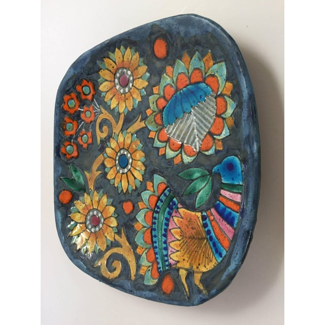 Hand-Painted Charger by Master Potter Marjatta Taburet Quimper France Circa 1960 For Sale - Image 9 of 10