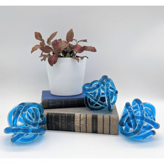 Contemporary Cobalt Blue Knots - Set of 3 Preview