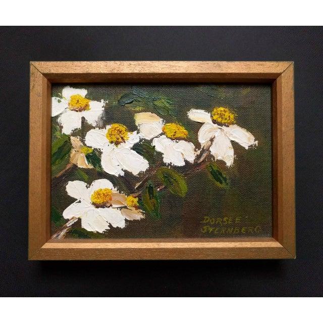 """1970s Vintage Dorsee Sternberg """"Dogwood"""" Framed Painting For Sale - Image 4 of 4"""