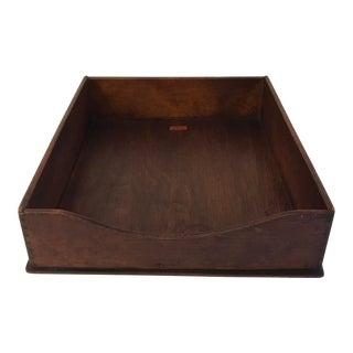 """Vintage Wooden """"In"""" Box For Sale"""