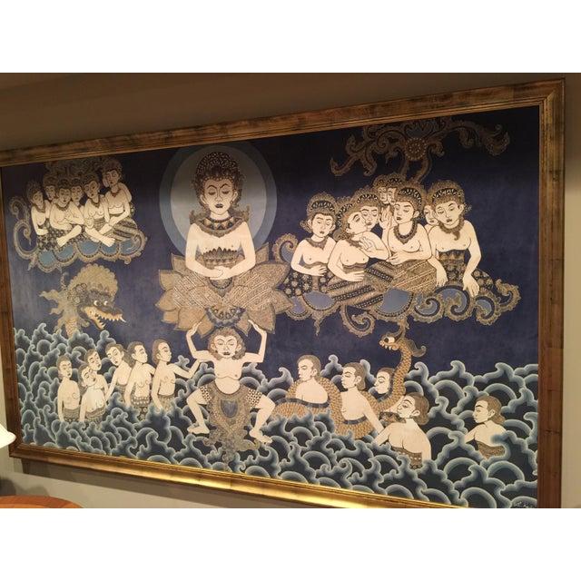 Framed Cultural Theme Indonesian Batik Artwork - Image 6 of 11