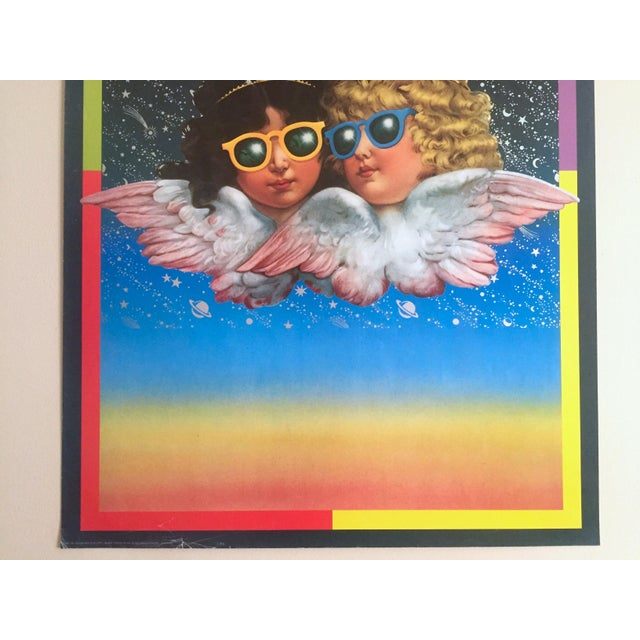 "Contemporary Vintage 1980 Rare Fiorucci New Wave Italian Fashion Lithograph Print Poster ""Cherub Angels"" For Sale - Image 3 of 11"