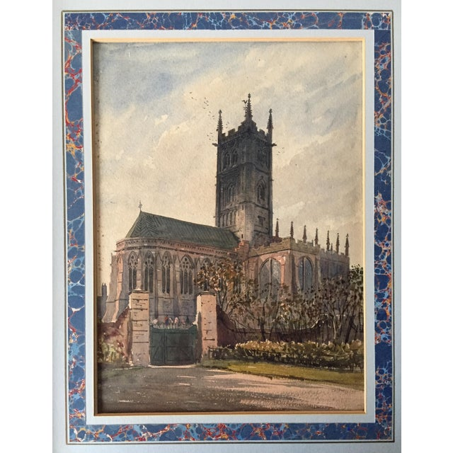 English Traditional English Church Watercolor Painting by Axel Haig For Sale - Image 3 of 8