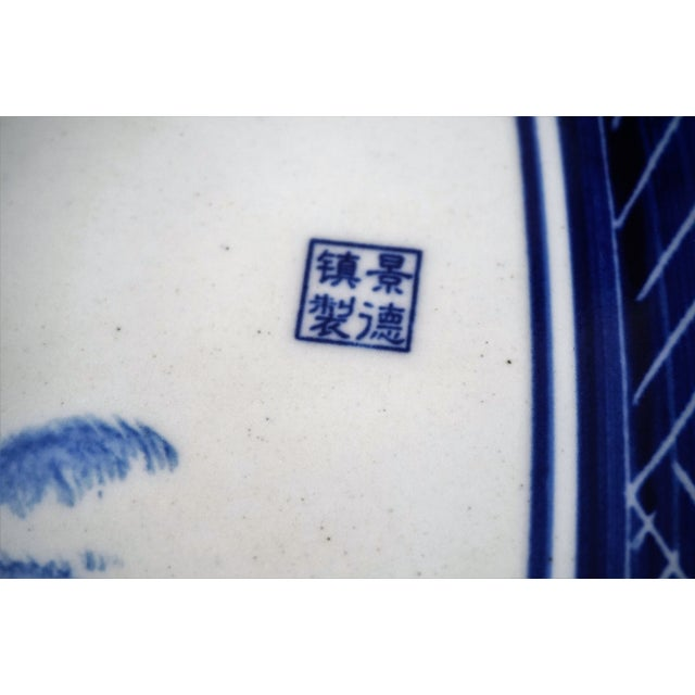 Blue and White Floral Motif Chinese Porcelain Garden Seats & Table - Set of 5 For Sale - Image 10 of 14