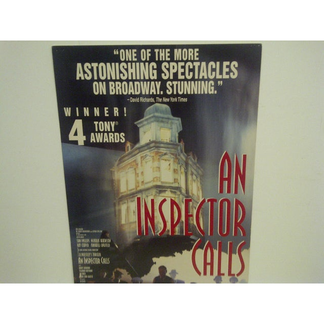 Americana Vintage An Inspector Calls Royal Theatre Poster For Sale - Image 3 of 5