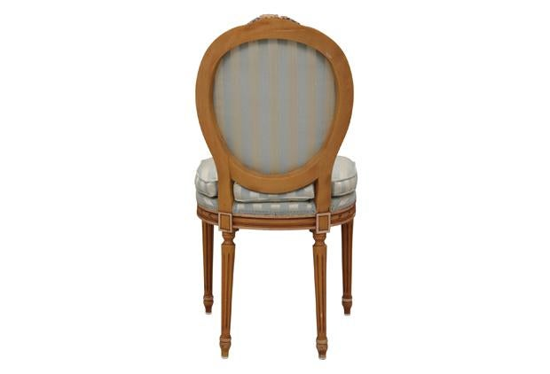 oval back dining chair. Louis XVI Stryle Oval Back Dining Chairs - Set Of 4 Image 7 Chair
