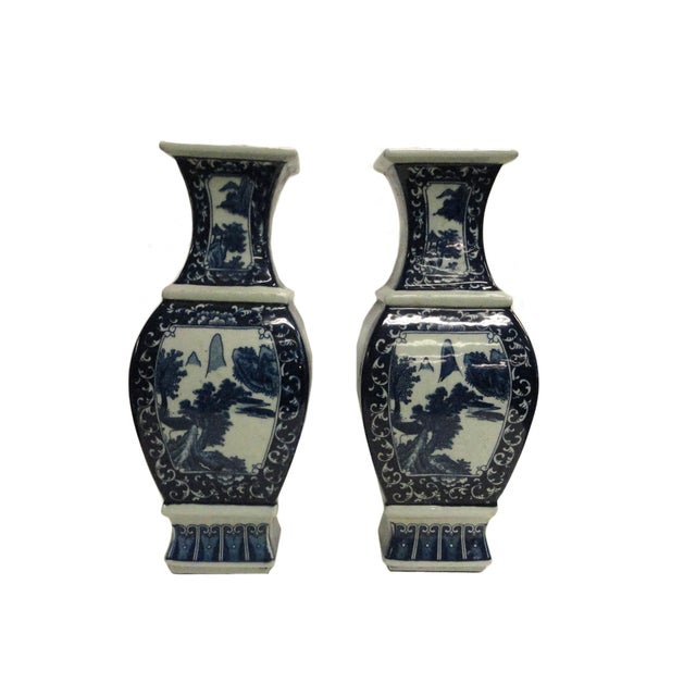Chinese Blue & White Porcelain Vases - A Pair - Image 3 of 4