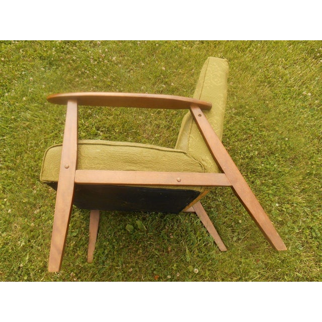 Danish Modern Olive Green Lounge Chair - Image 6 of 6