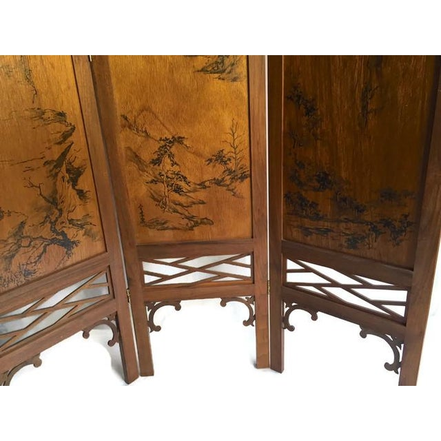 Vintage Chinoiserie Fretwork Privacy Screen - Image 3 of 7
