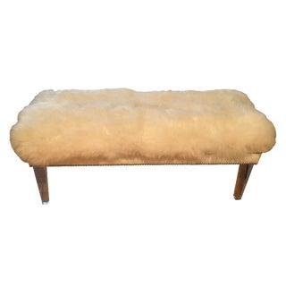 Sheepskin Lucite Bench