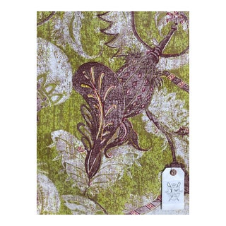 "John Stefanidis's ""Alexandrine"" English Hand Print - 11 Yards For Sale"
