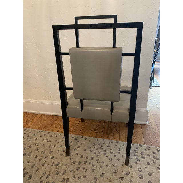 Transitional Custom Lacquer Dining Chairs - Set of 12 (Priced Individually) For Sale - Image 3 of 8