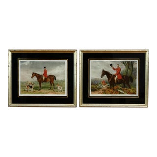 Pair of 19th Century English Equestrian Prints For Sale