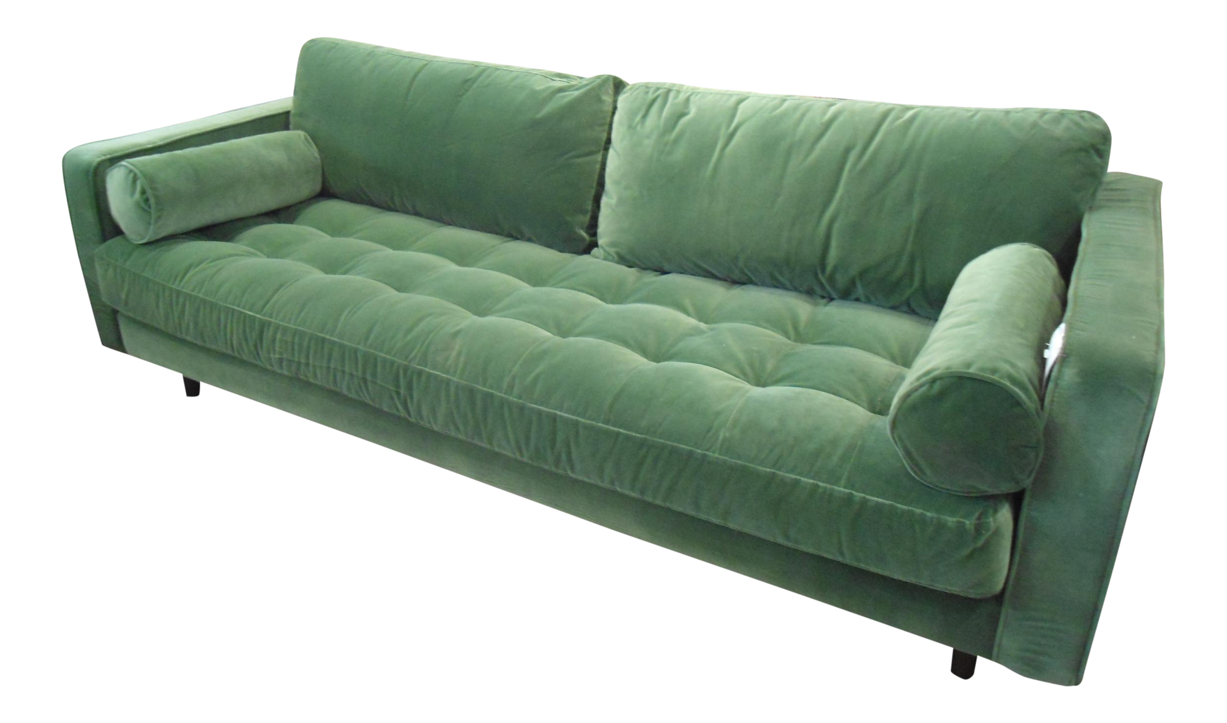 Bon Grass Green Velvet Tufted Sofa