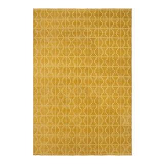 Loom Arya Alizee Gold & Gold Bamboo Silk Rug- 4'0 X 6'0