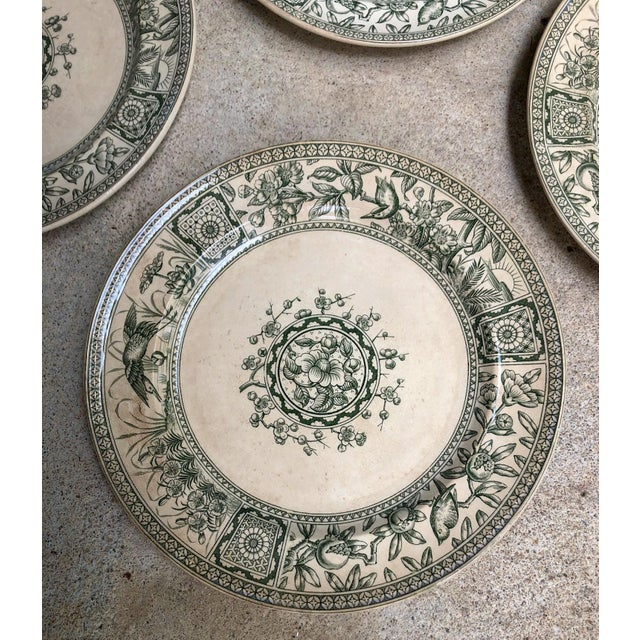 Victorian Antique English Plates Davenport Iolanthe Transferware - Set of 4 For Sale - Image 3 of 7