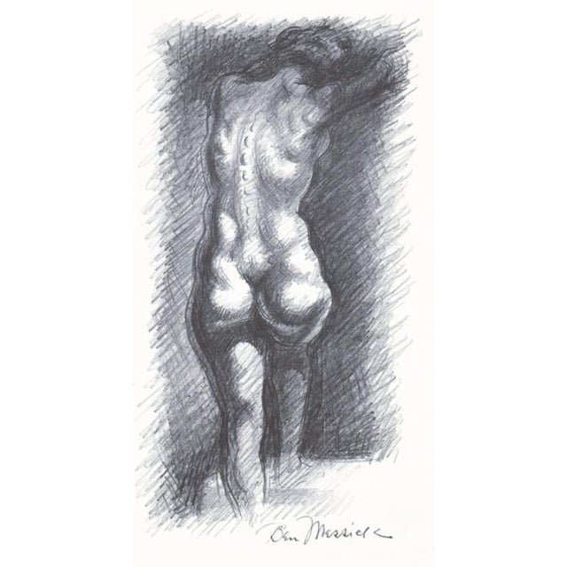 1930s 1930s Ben Messick Female Nude Lithograph W P a Style For Sale - Image 5 of 5