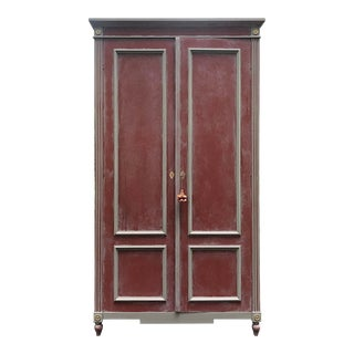 British Red Ballard Casa Florentina Armoire For Sale