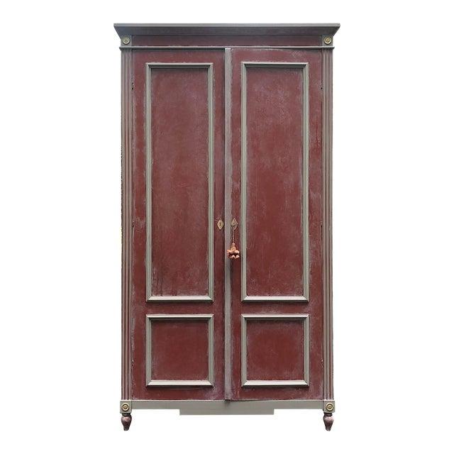 British Red Ballard Casa Florentina Armoire For Sale