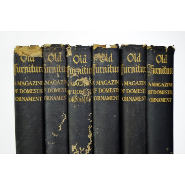 """1920s Vintage """"Old Furniture: A Magazine of Domestic Ornaments"""" Books - Set of 6 - Image 2 of 10"""