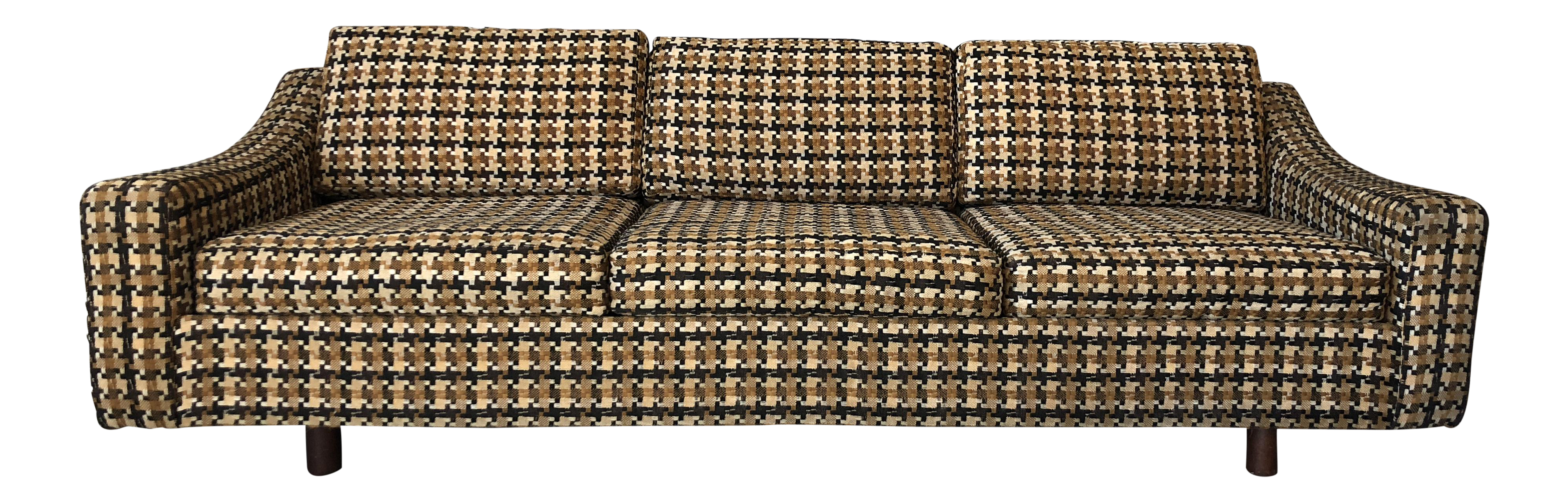 Charmant Harvey Probber Tuxedo Style Sofa With Jack Lenor Larsen Upholstery |  Chairish