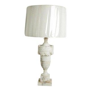 Carved Alabaster Lamp For Sale