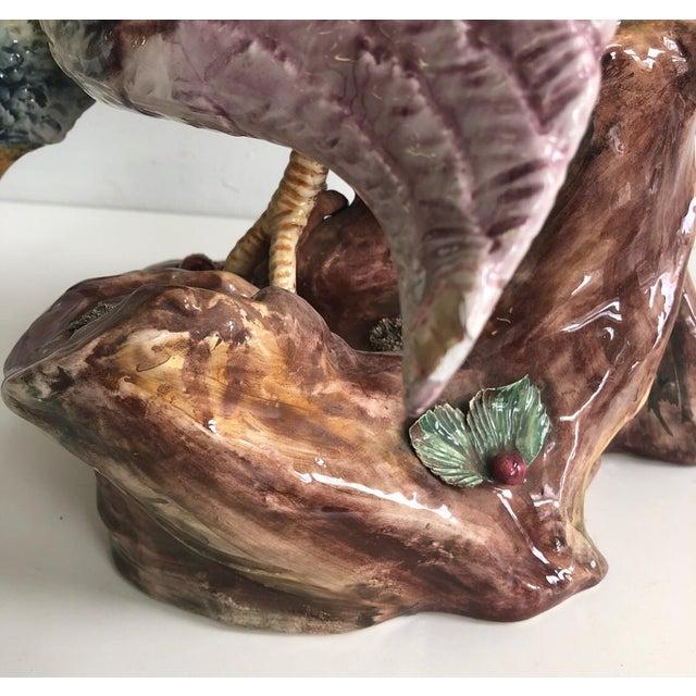 Ceramic Italian Large Scale Decorative Pheasant Figure For Sale - Image 7 of 13