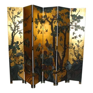 Six-Panel Folding Coromandel Screen For Sale