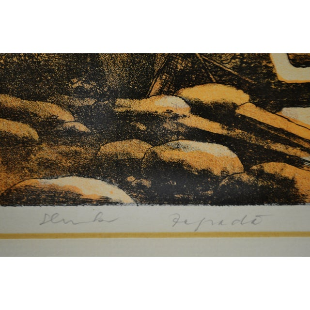 Mid 20th Century Vintage Framed Limited Edition Landscape Serigraph - Signed and Numbered For Sale - Image 5 of 13