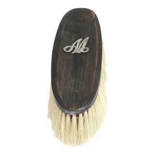 "Anitique Vanity Clothes Brush With Sterling Monogram"" Aa"" For Sale"