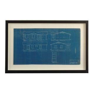 Framed Vintage Blueprint For Sale