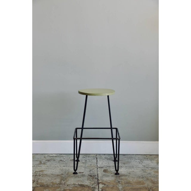 Gray Set of Four Industrial Counter-Height Bar Stools For Sale - Image 8 of 8