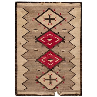 """American Navajo Scatter Rug, 3' X 4'5"""" For Sale"""