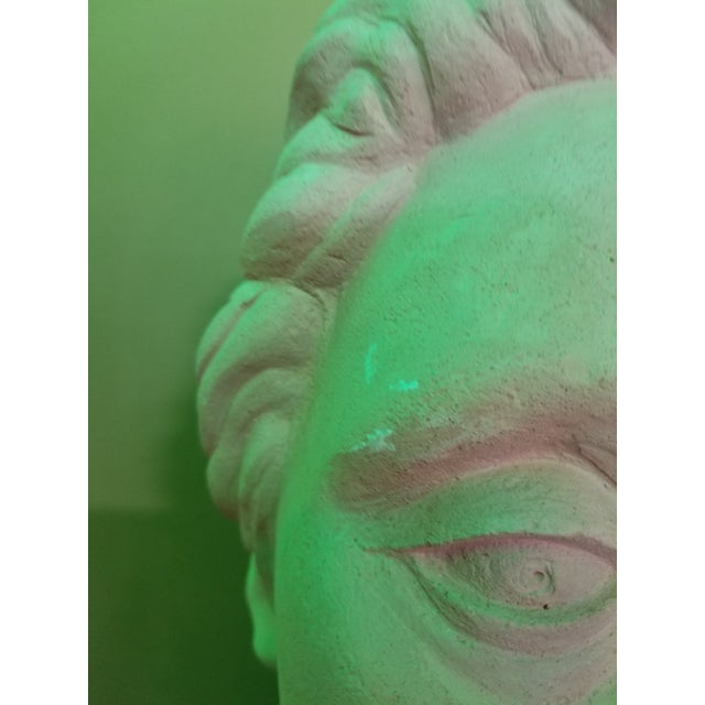 White Life-Size Terracotta Bust by Herman Roderick Volz For Sale - Image 8 of 11